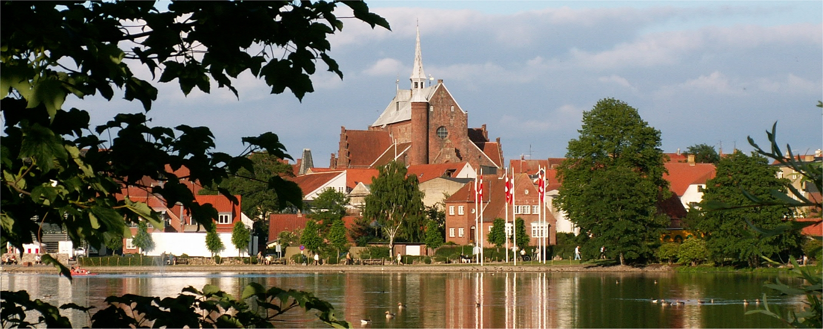 Haderslev Domkirke fra Damparken