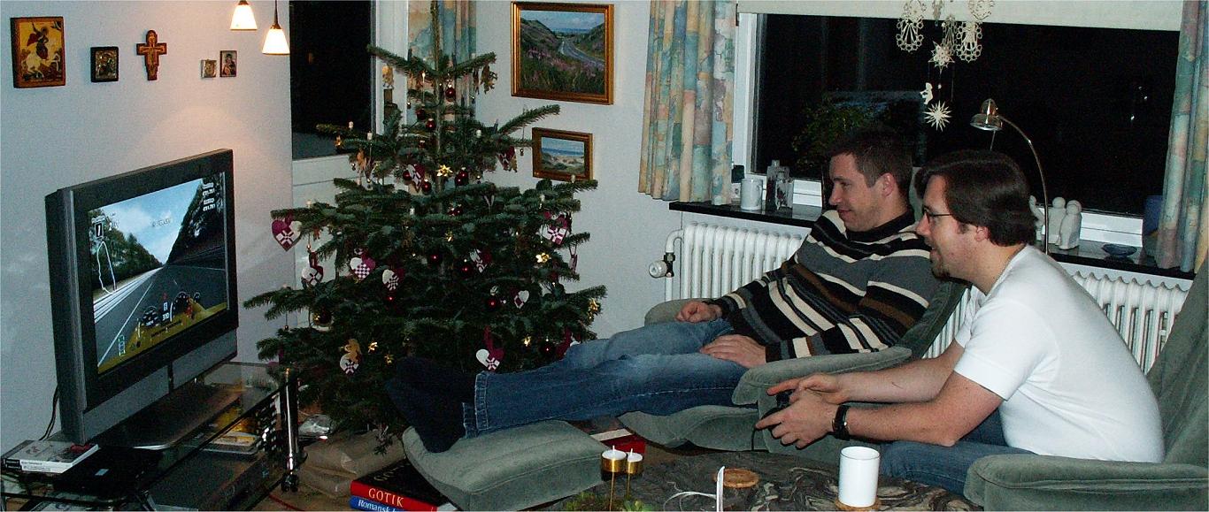 René og Heine kører ræs - julen 2005