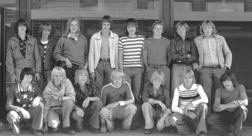 Birkelundskolen Thorkilds 10 klasse omkring 1976
