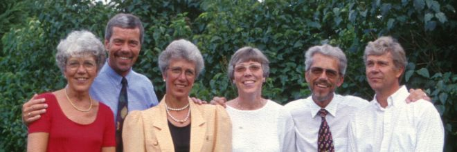 Thorkilds søskende: Birthe - Bent - Ruth - Ellen - Thorkild - Lars 1997