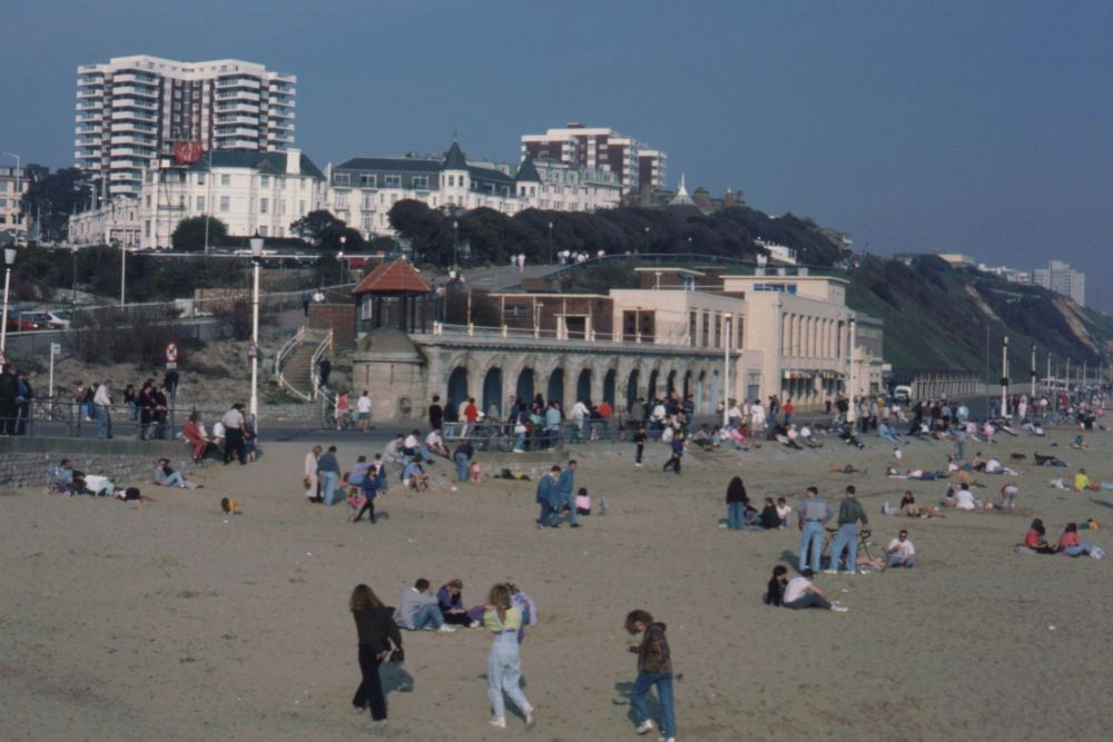 Stranden ved Bournemouth