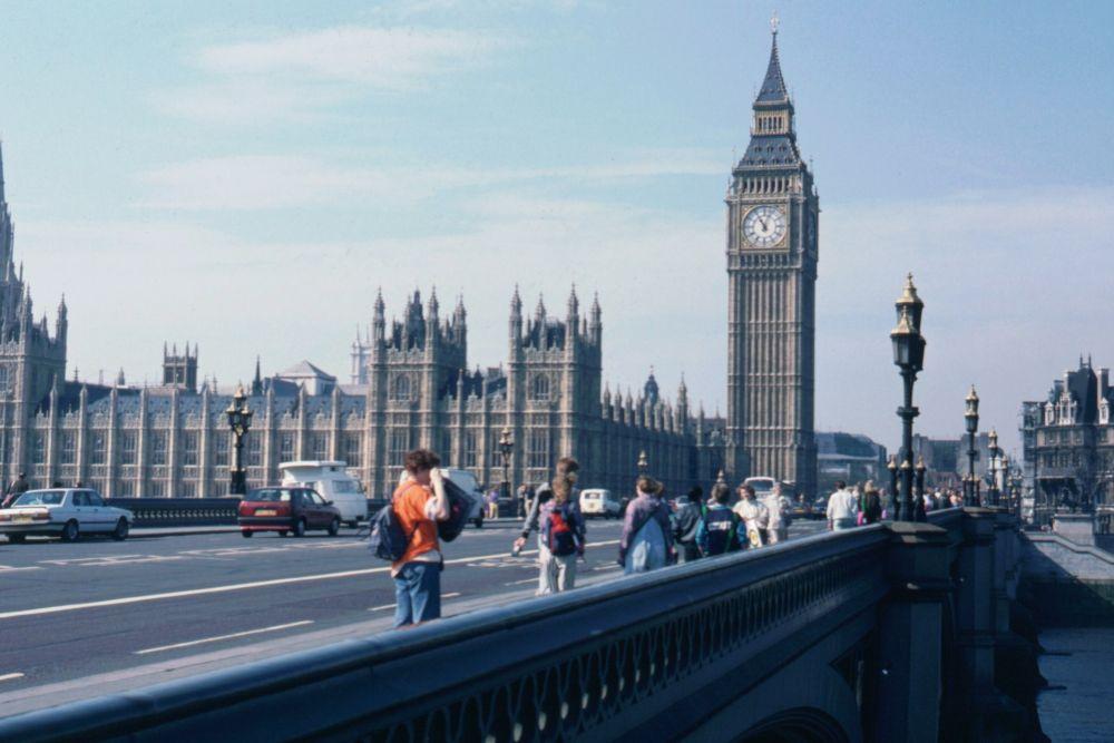 En tur omkring Westminster Bridge i London inden hjemrejsen