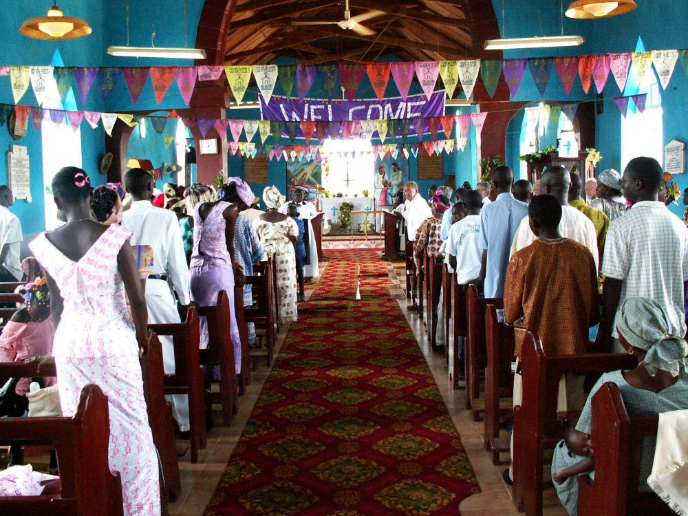Gudstjeneste i domkirken i Bo