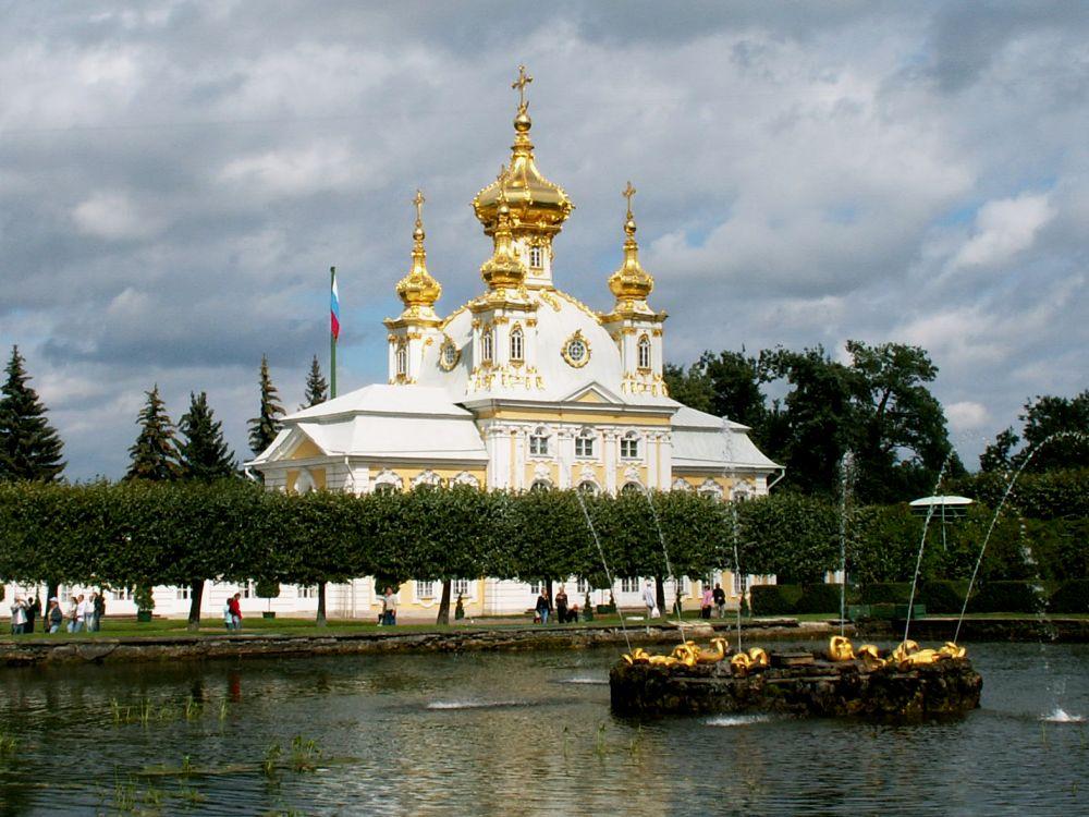 Slotskirken ved Peterhof i Sct. Petersborg