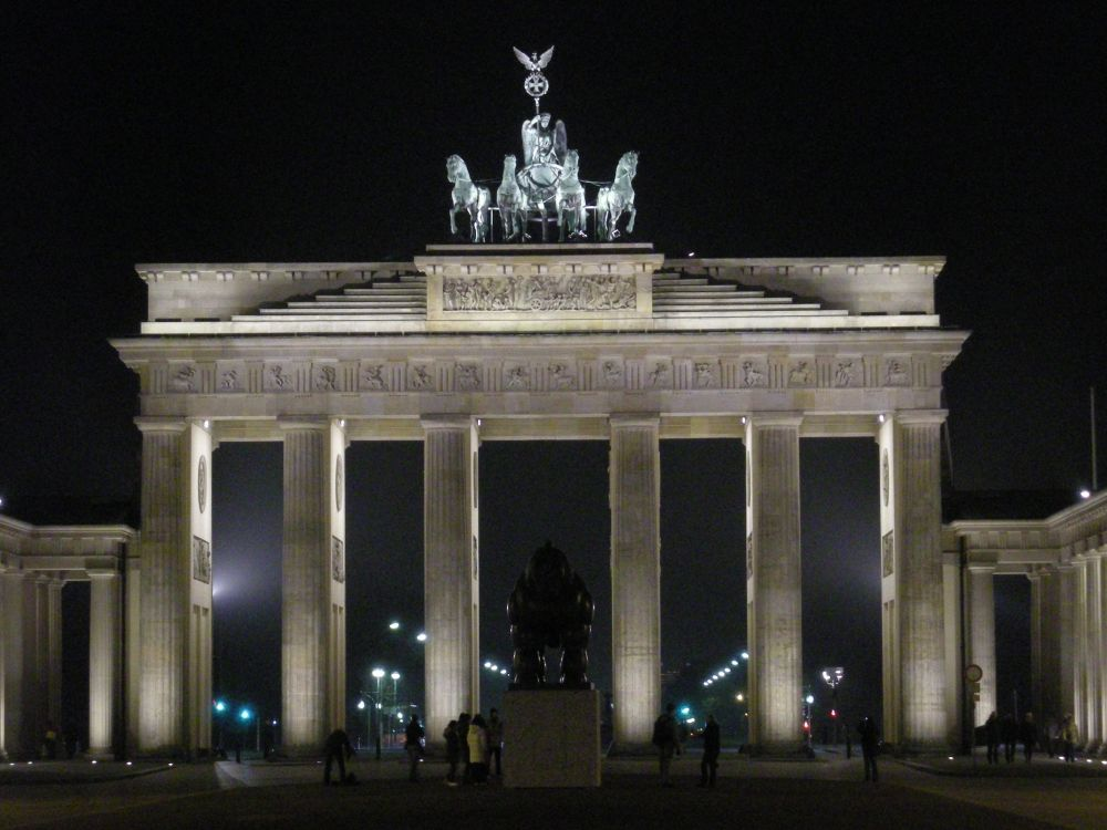 Brandenburger Tor ved aften