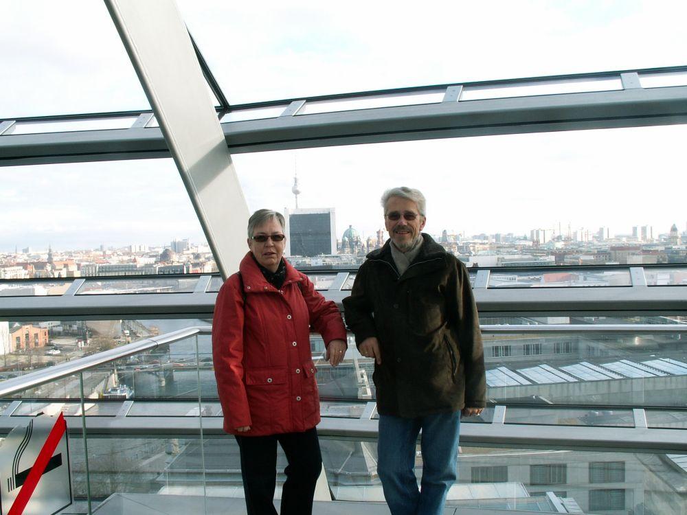 Aase og Thorkild i Rigsdagsbygningens kuppel