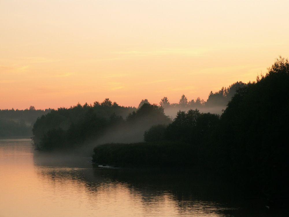 Aften på floden