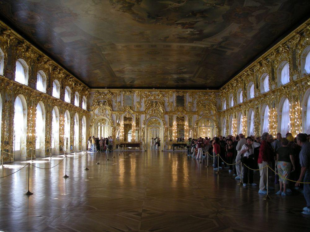 Den store sal i Catharinapaladset i Sct. Petersborg