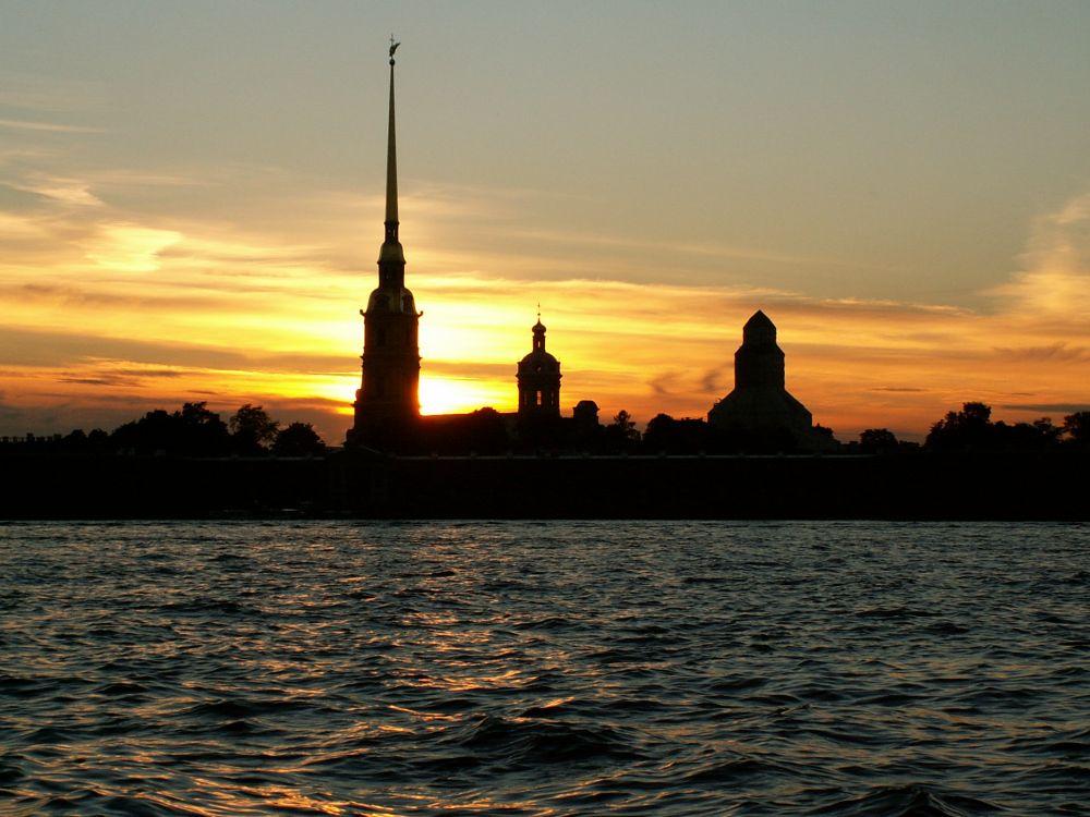 Peter-Paul fæstningen i solnedgang