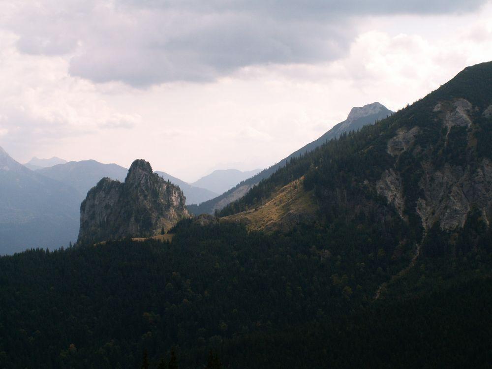 Udsigt fra Breitenberg ved Füssen