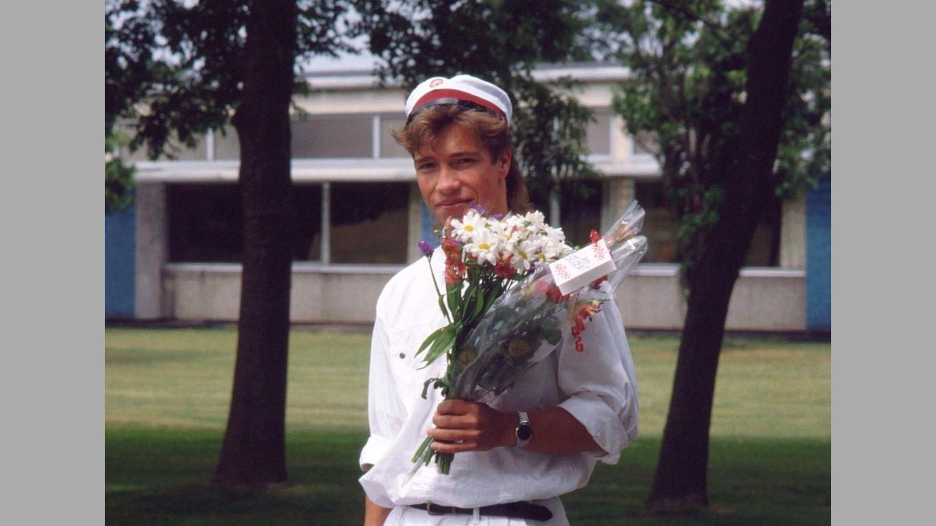 Heine ved Hjørring Gymnasium 1990