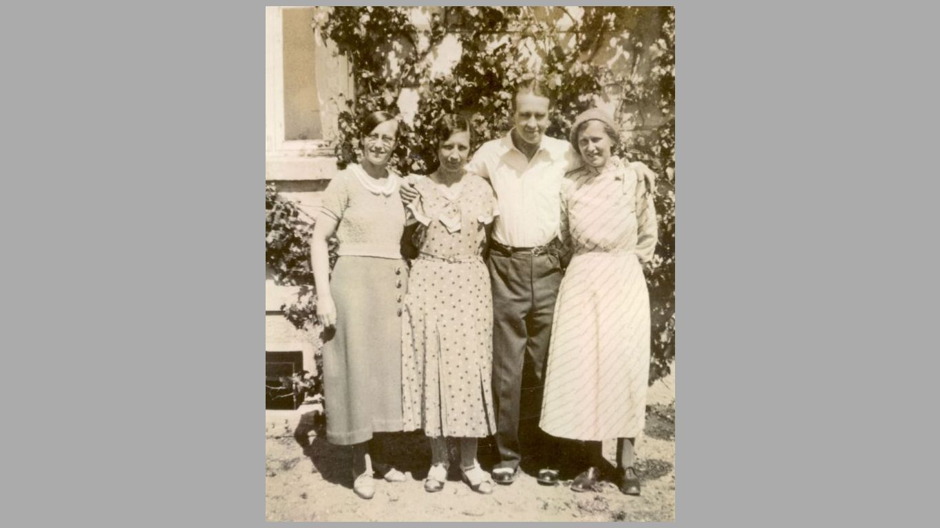 Mary, Gerda, Victor, Esther 1934