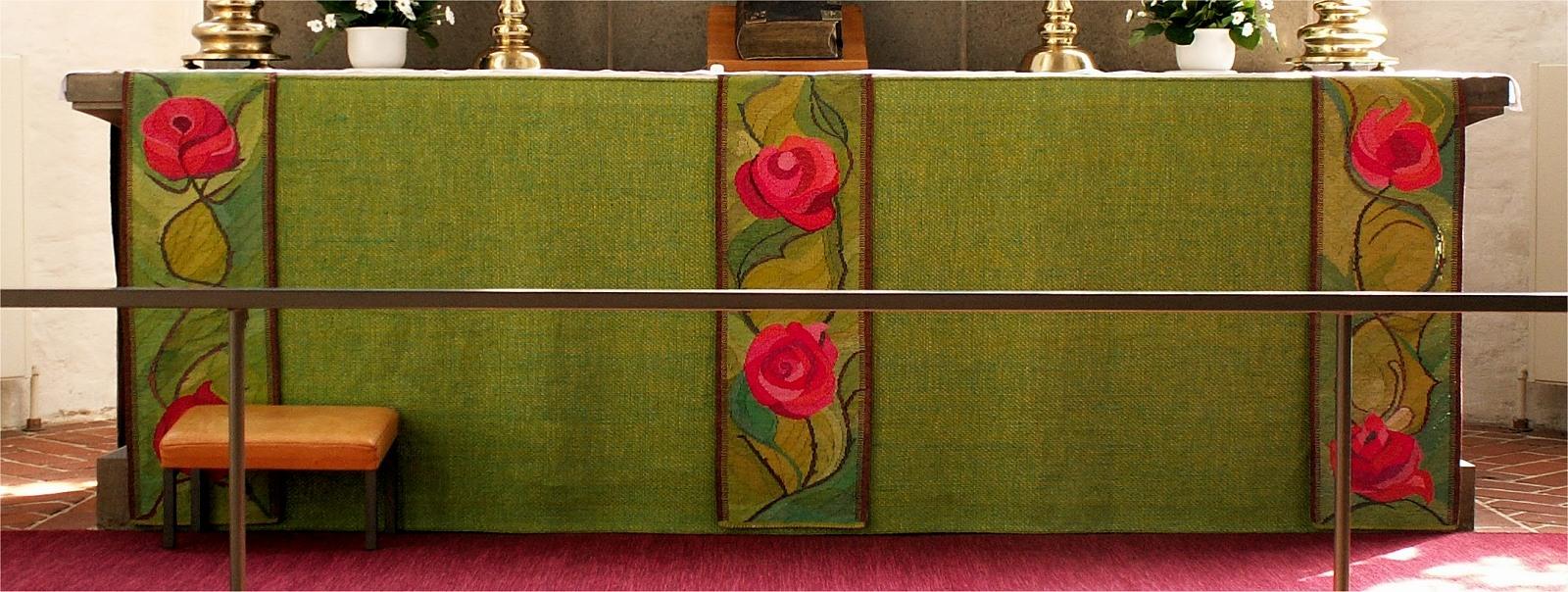 Grøn alterbordforside