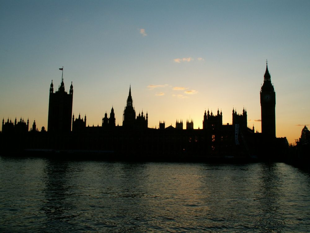 Aften ved Parlamentsbygningen