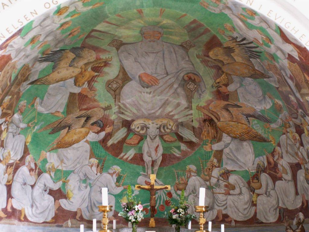 Gl. Haderslev Kirkes apsisfresko
