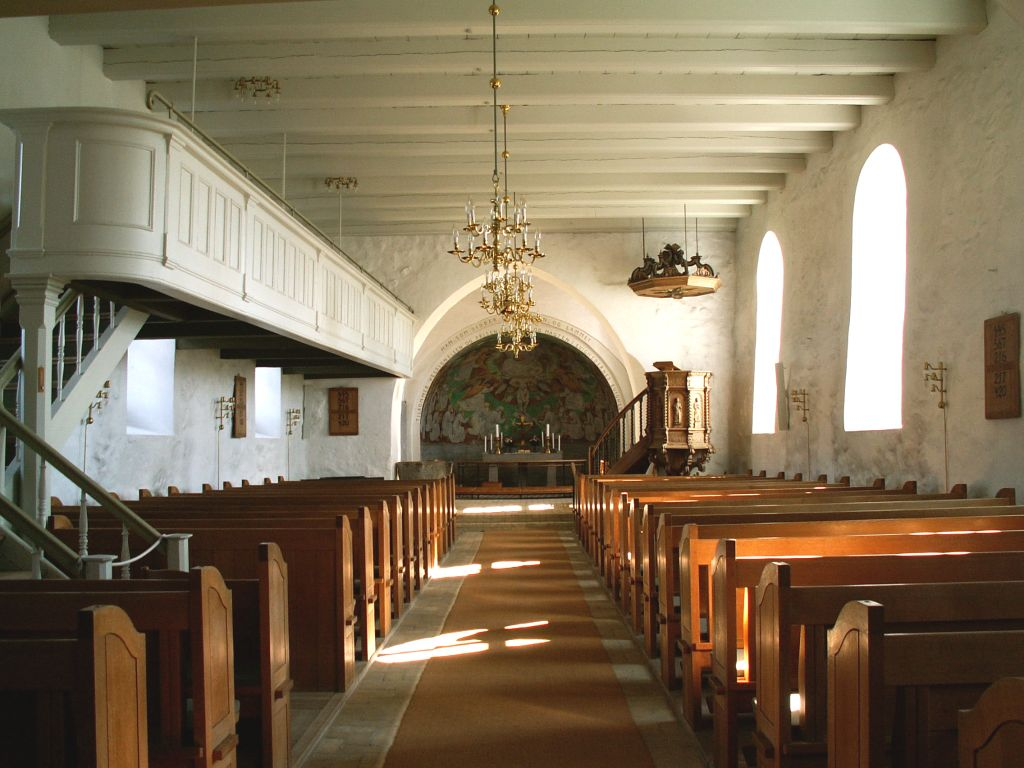 Gl. Haderslev Kirke interiør øst