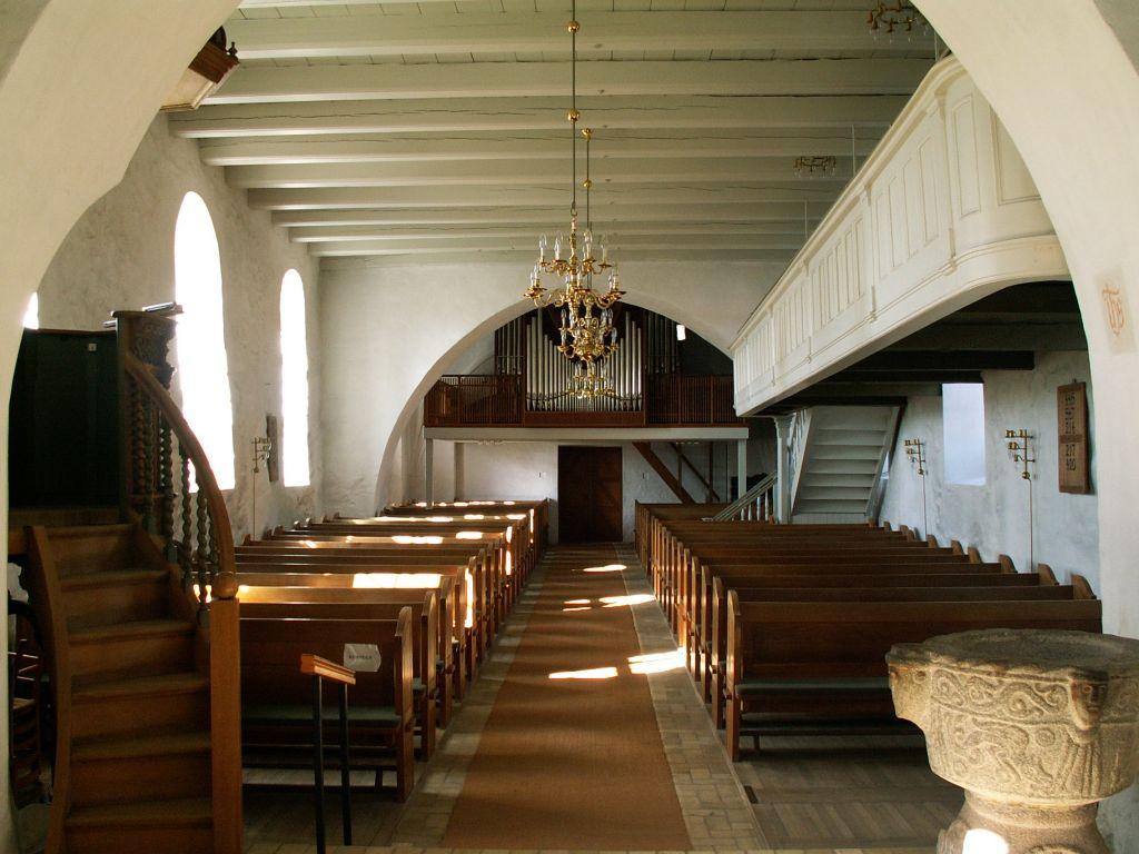 Gl. Haderslev Kirke interiør vest