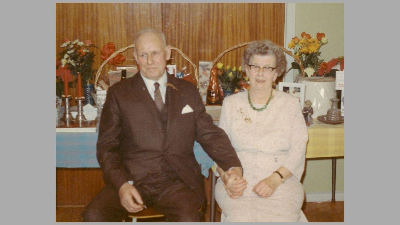 Hans og Julie ved deres guldbryllup