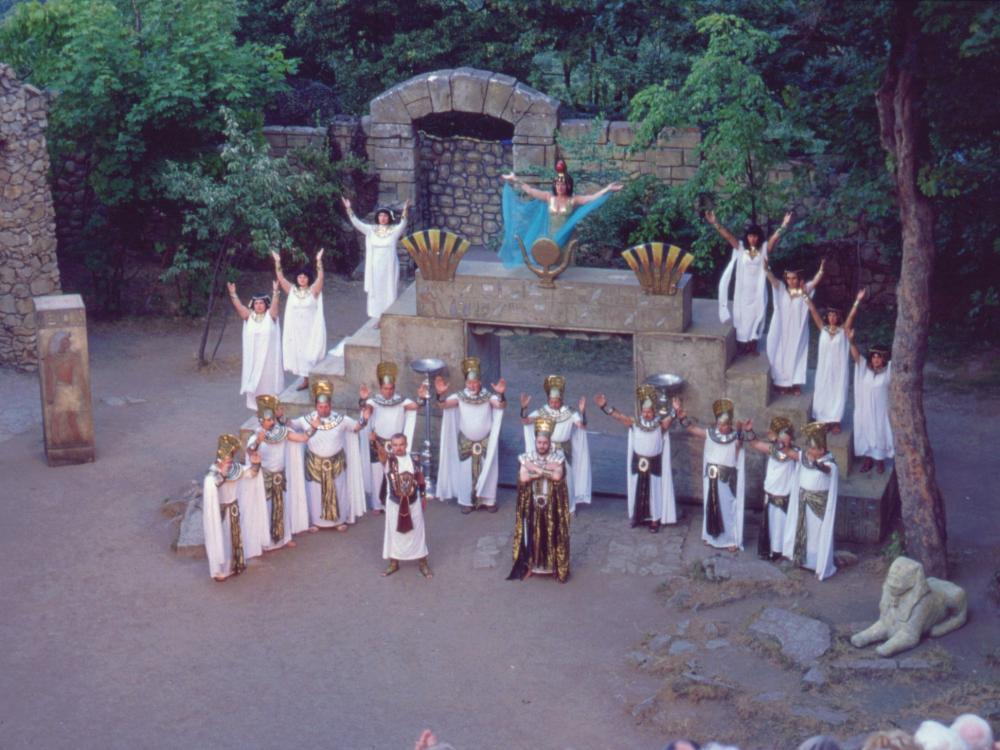 """Operaen """"Aida"""" på friluftsscenen i Thale"""