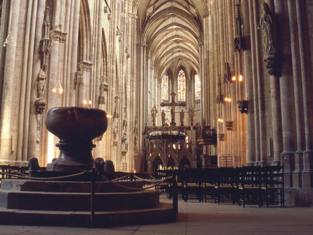 Domkirken i Halberstadt - et fint eksempel på tysk gotik