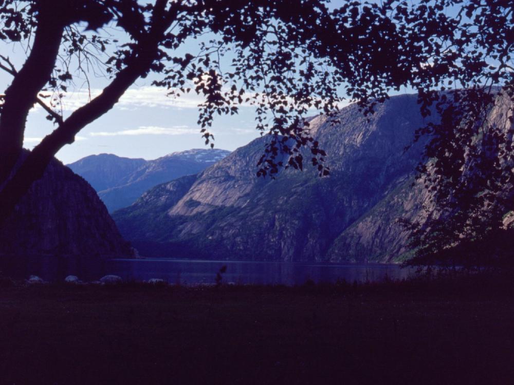 Aften ved Øvre Eidfjord