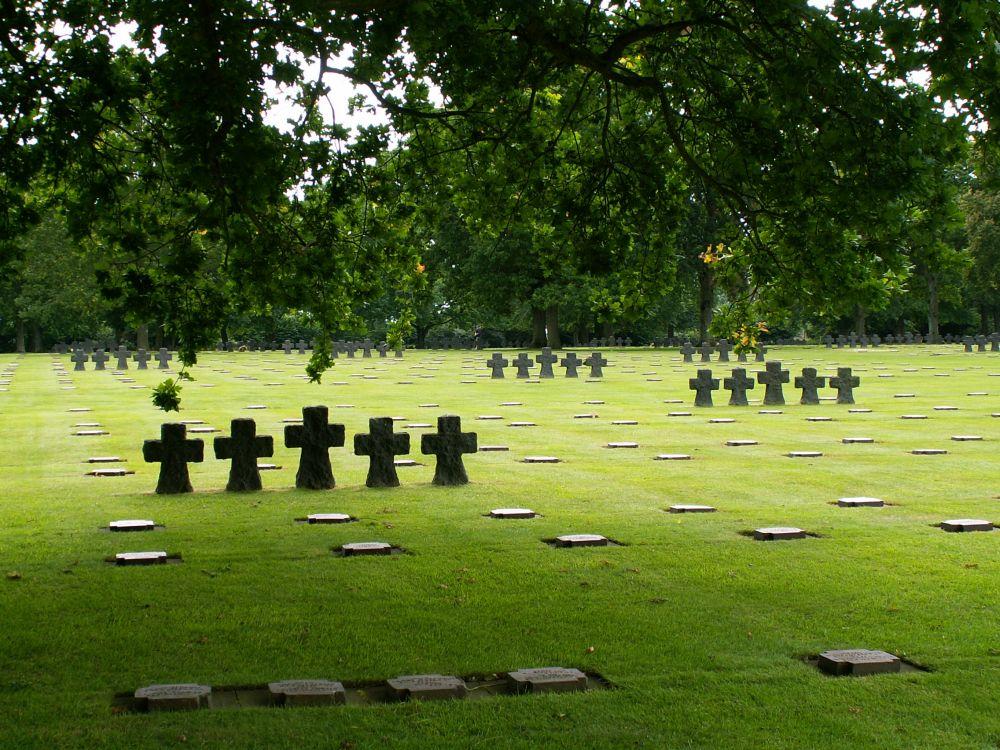 Den tyske krigskirkegård i La Cambe