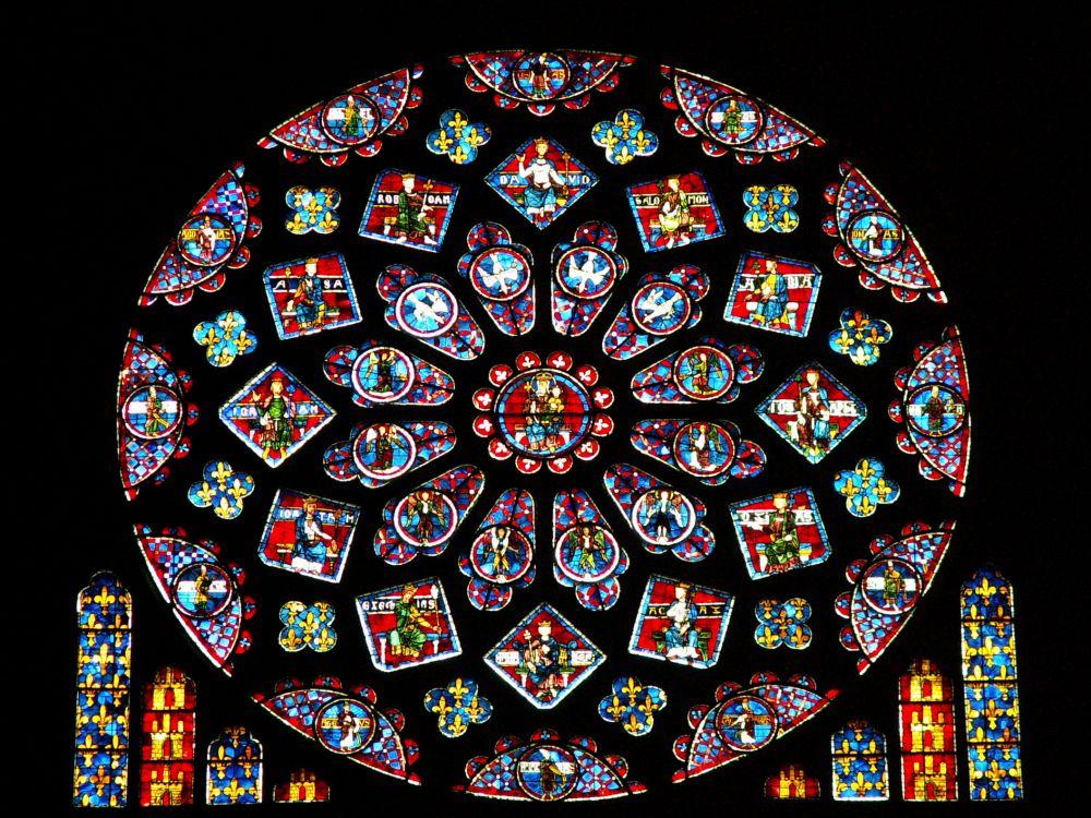 """""""Frankrigs rose"""" - Nordrosen i Chartres"""