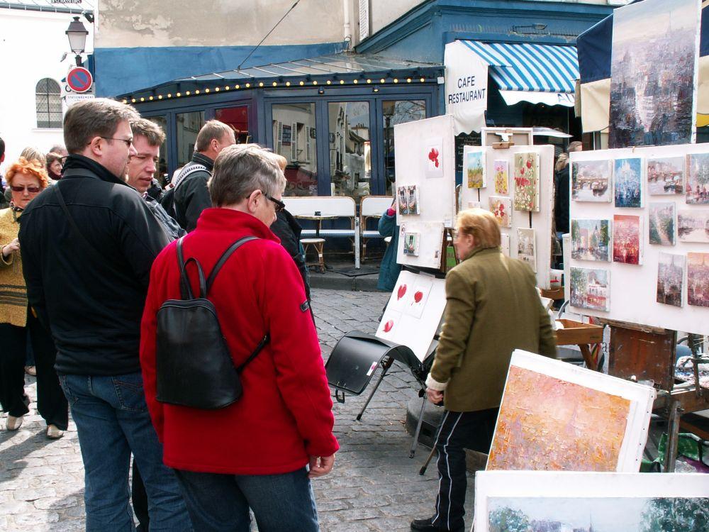 I turistfælden på Montmartre