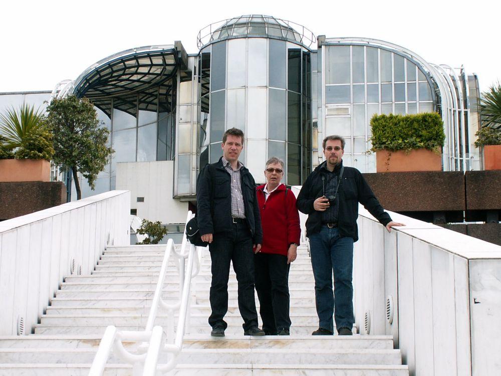 Heine, Aase og Réne ved Forum Les Halles