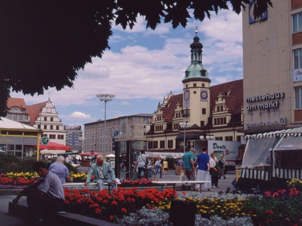 Torvet i Leipzig