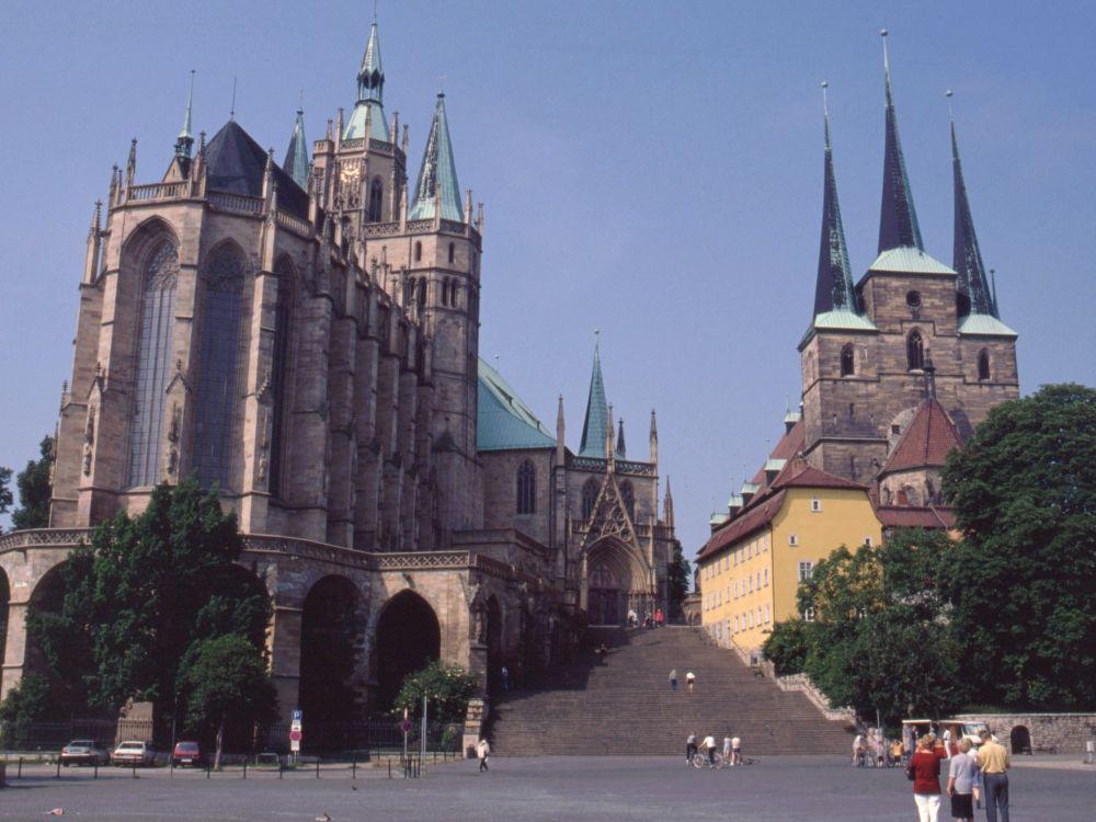 Domkirken og Severinkirken i Erfurt