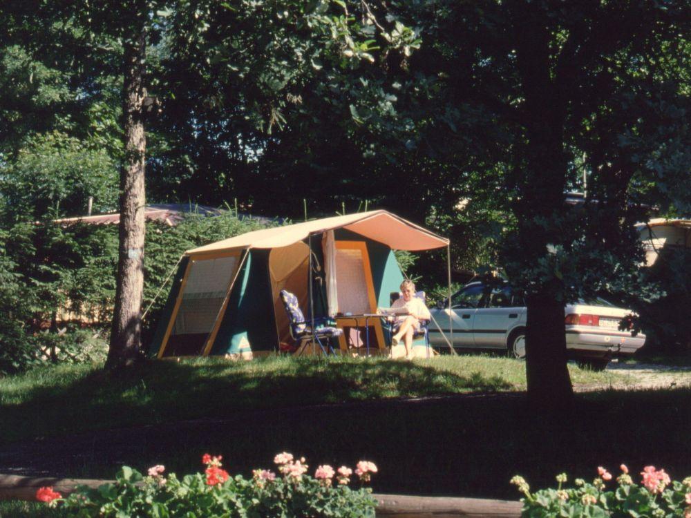 På campingpladsen ved Riegsee