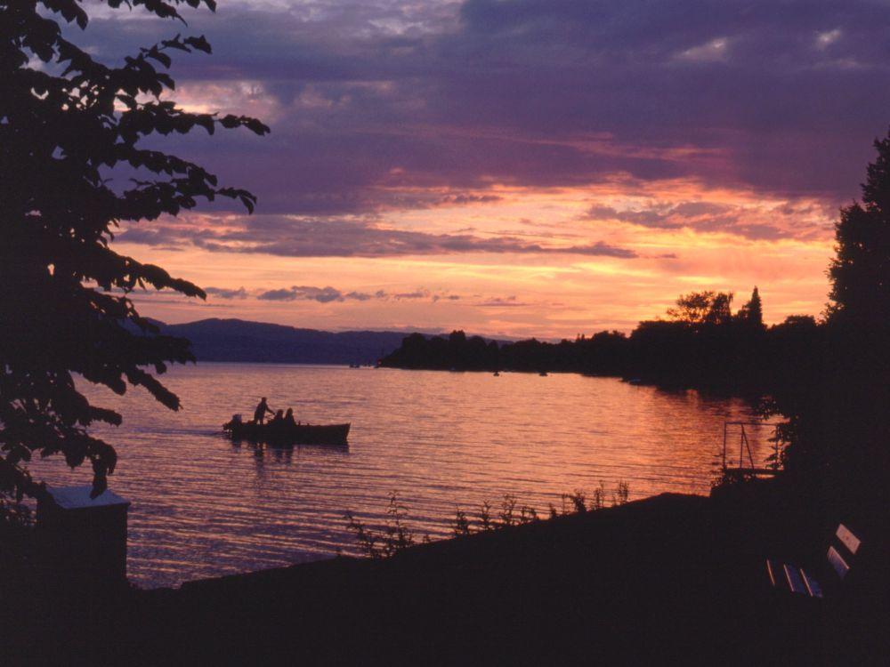 Aften ved Zürich See
