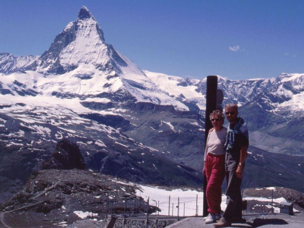 Aase og Thorkild ved Matterhorn