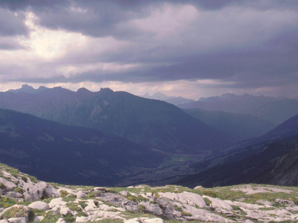 Alperne i regnvejr