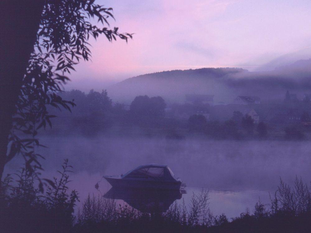Morgen over Mosel-floden