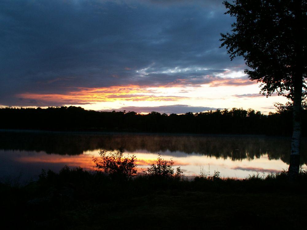 Solnedgang over Ulvasjöen