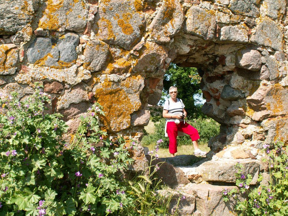 Aase i Hammershus skotsruin