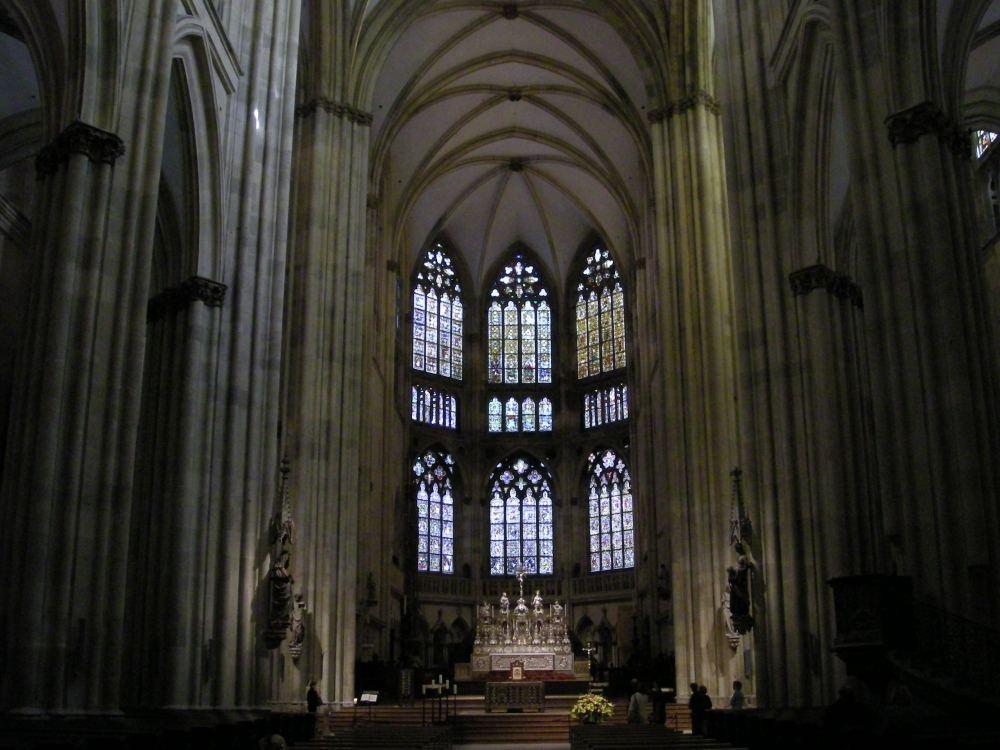 Hovedskibet i Regensburg Domkirke
