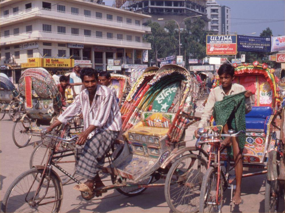 Richshaws i Dhaka