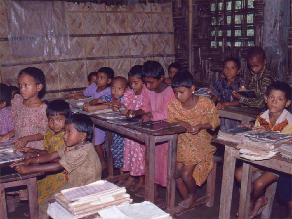 Skolebørn i Ramnogor landsbyskole