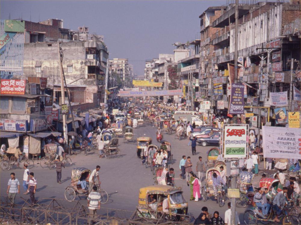 Trafik i hovedstaden Dhaka