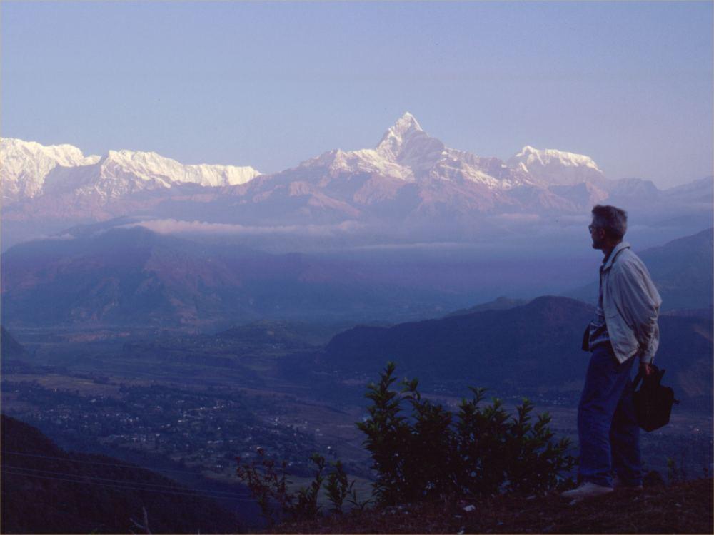 Thorkild ved Annapurnamassivet / Fiskehalebjerget