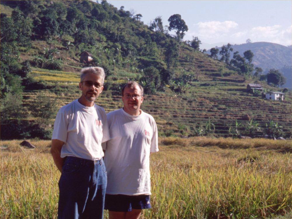 Thorkild og Søren med vores Horne-T-shirts