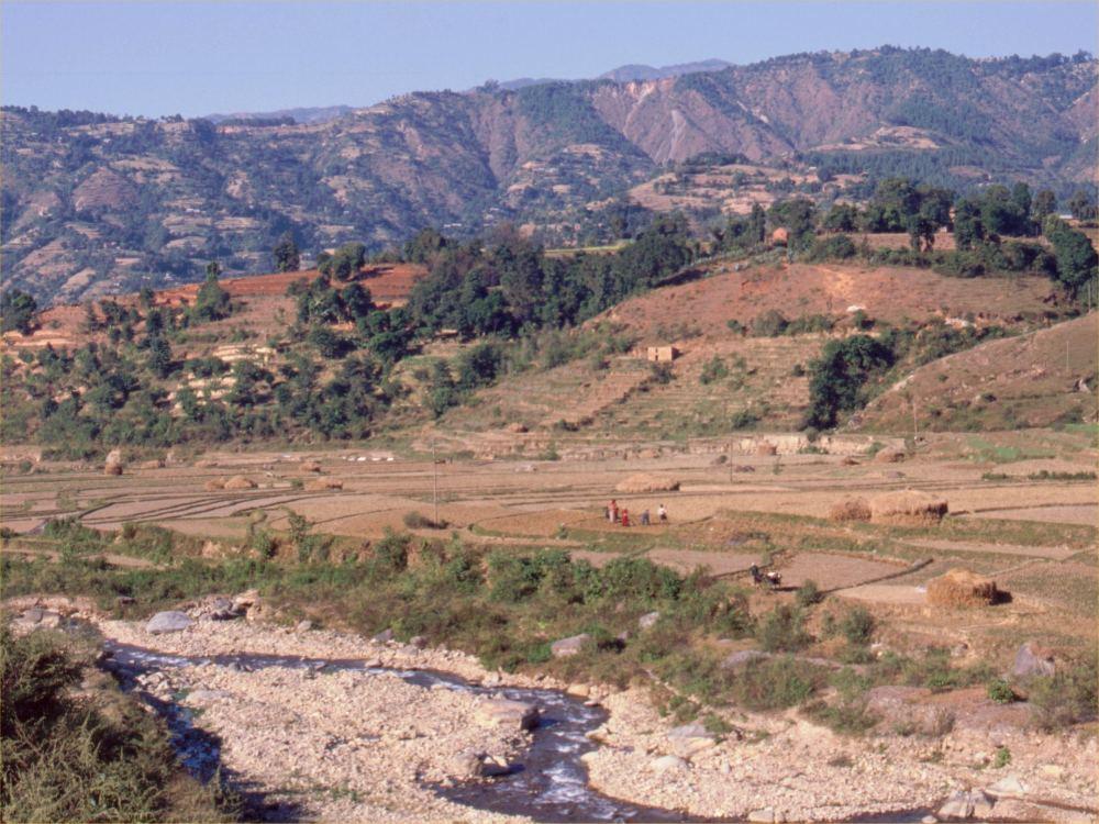 Landskab i Syd-Nepal