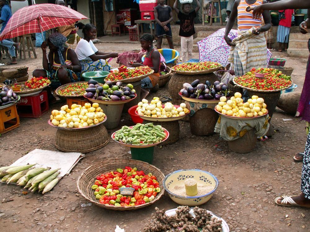 Grøntsager på et marked