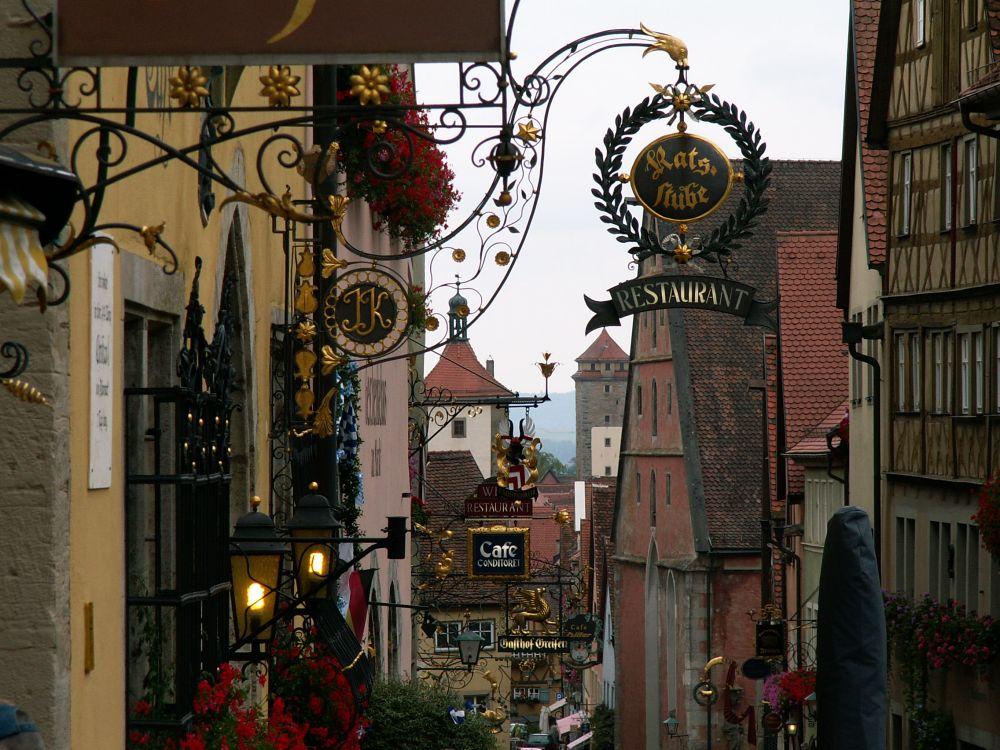 Skilte i Rotenburg ob der Tauber