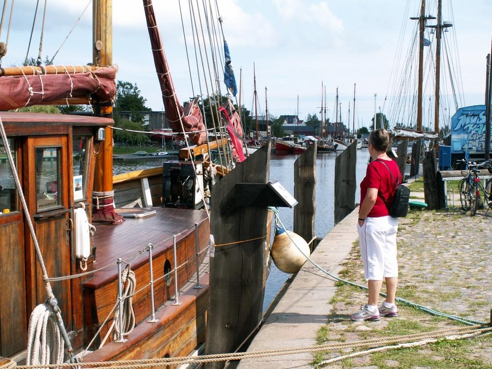 Aase på havnen i Greifswald