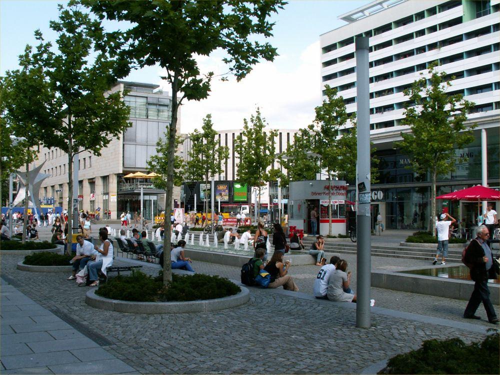 Den nye gågade - Pragerstrasse - i Dresden