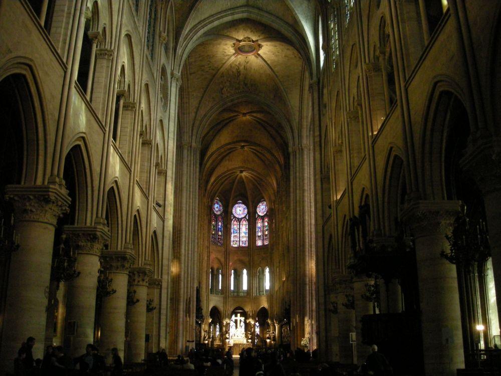Notre Dame kirken i Paris - hovedskibet